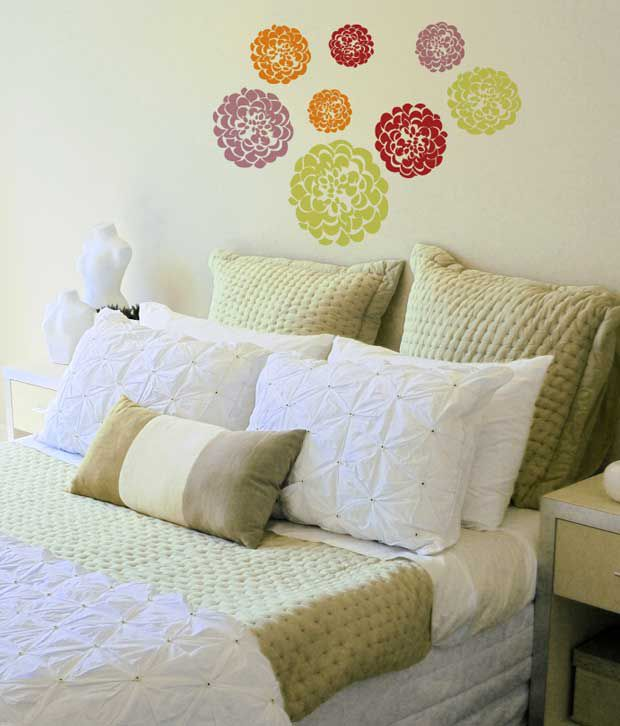 Home Decor Line Wall Sticker Decal Soft Flowers Buy