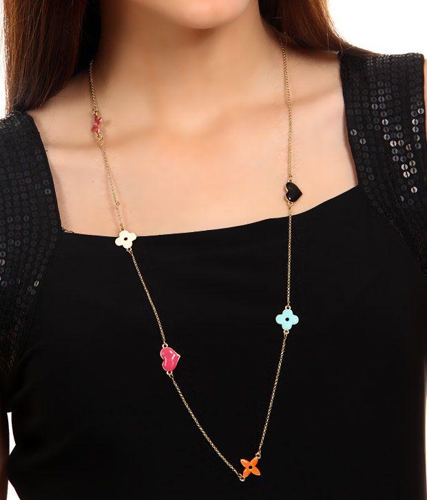 Rhea Heart Bloom Necklace