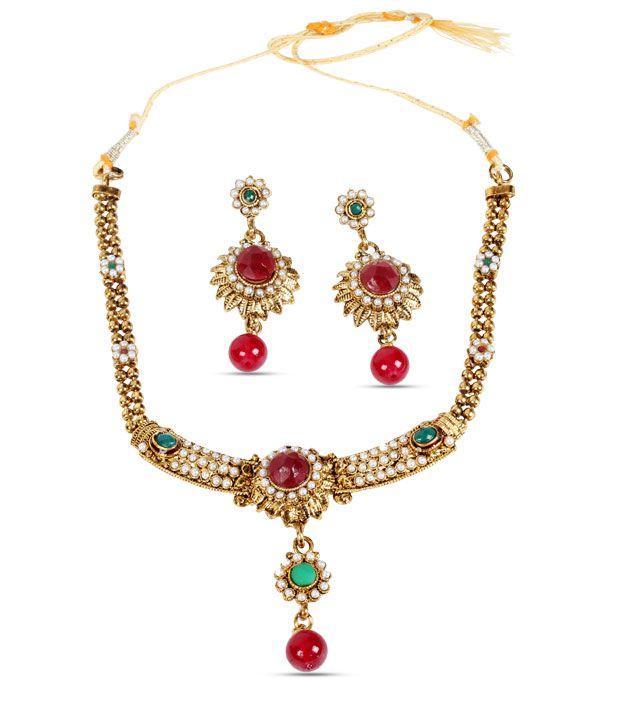 Itz About You Kundan & Polki Necklace Set