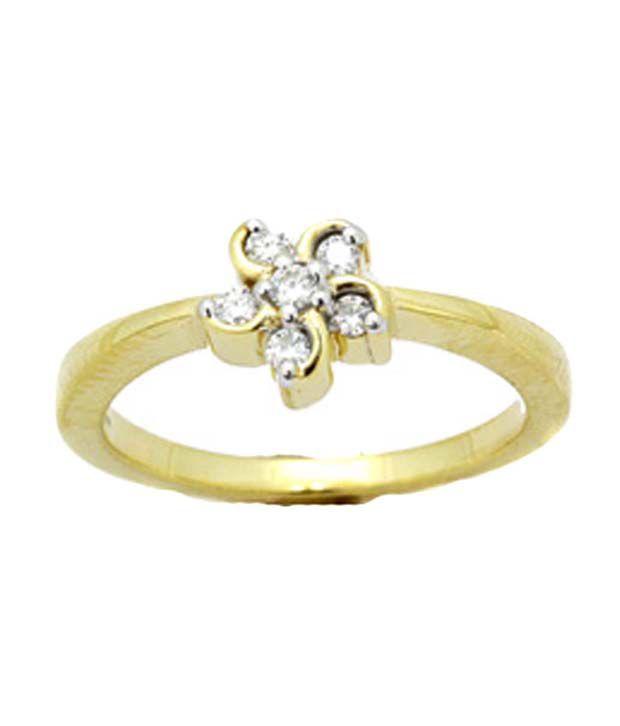 Avsar 18kt Gold 0.07 Ct. Diamond Ring