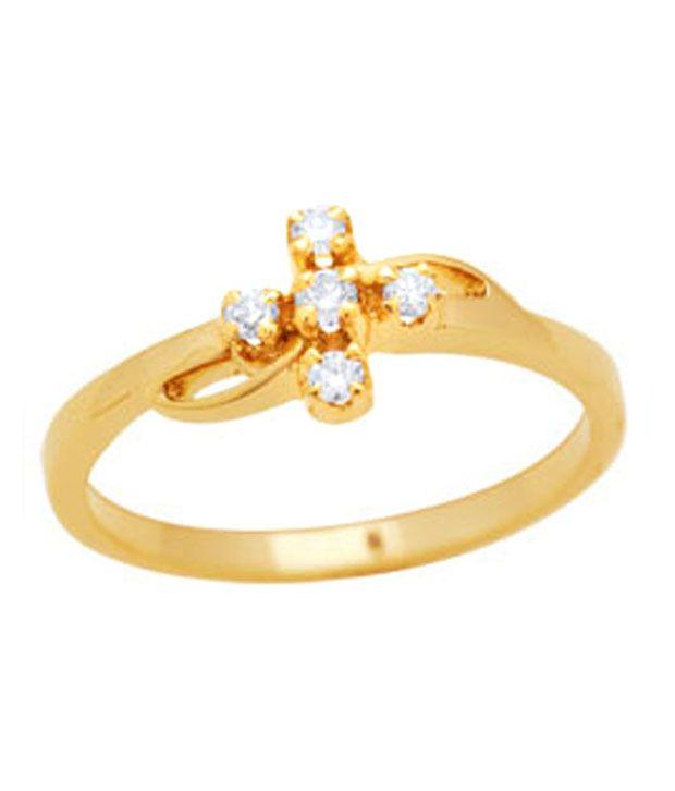 Avsar 0.07 Ct. Five Diamond 18kt Gold Ring