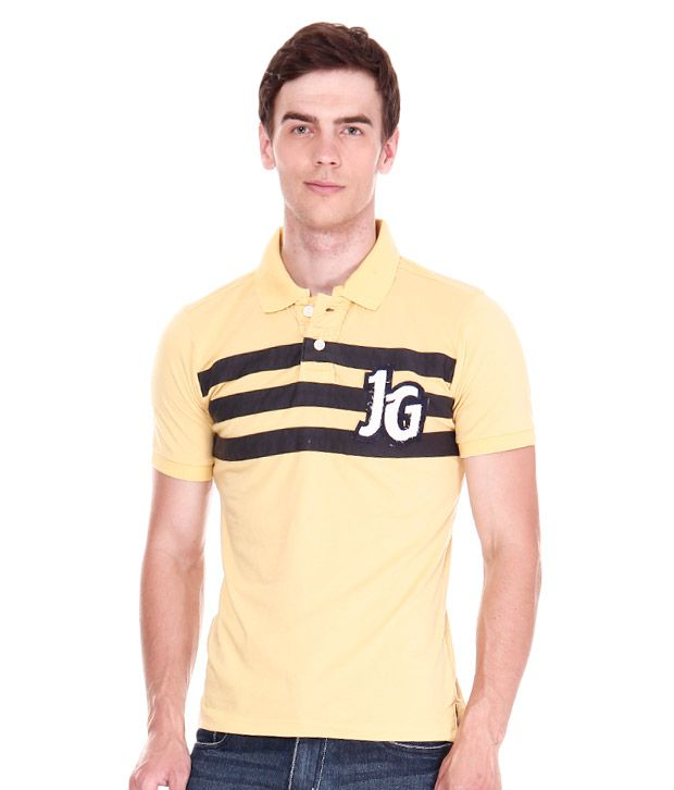 Jogur cool yellow polo t shirt buy jogur cool yellow for Cool polo t shirts