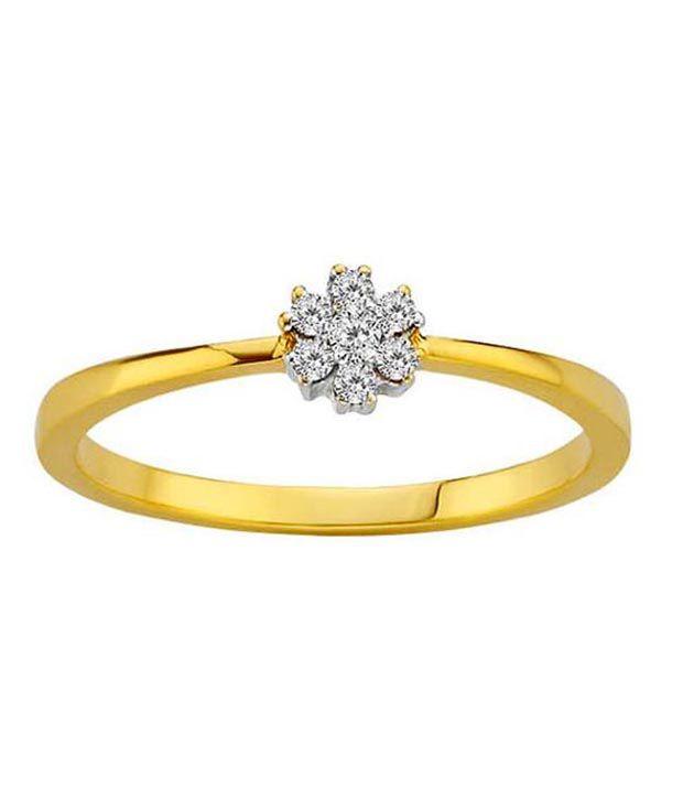 Avsar 0.13 Ct. Diamond 18kt Gold Floral Ring