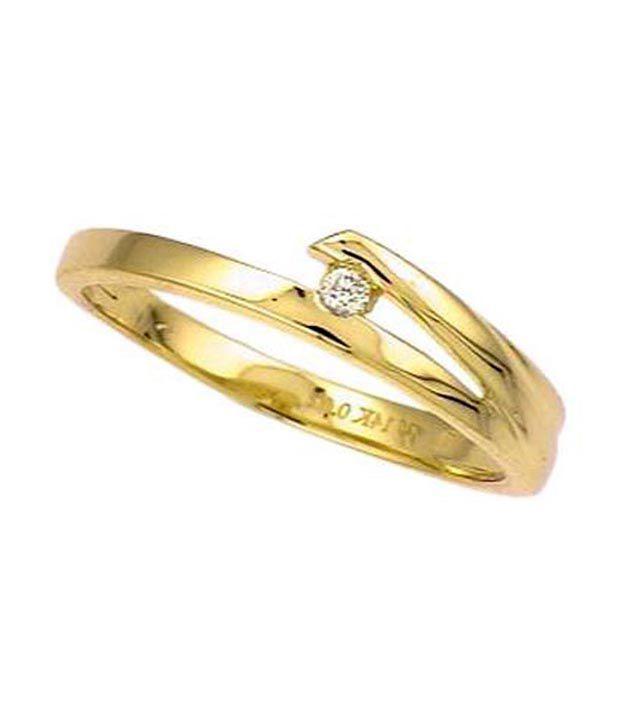 Avsar 18kt Gold 0.05 Ct. Single Diamond Ring