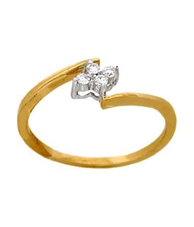 Avsar 0.08 Ct. Diamond 18kt Gold Two Tone Ring