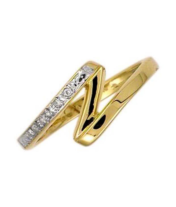 Avsar 18kt Gold 0.8 Ct. Diamond Zig-Zag Ring