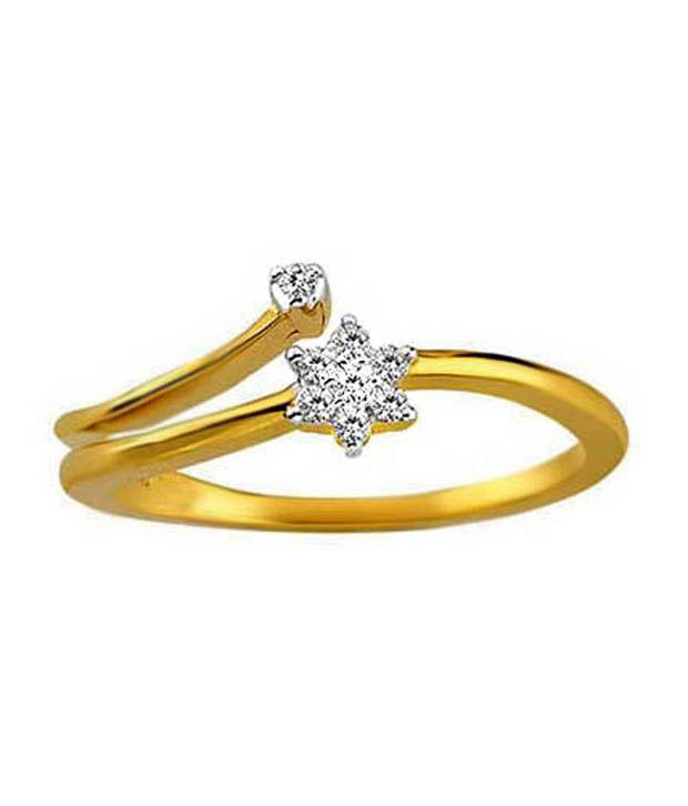 Avsar 0.18 Ct. Diamond 18kt Gold Ring