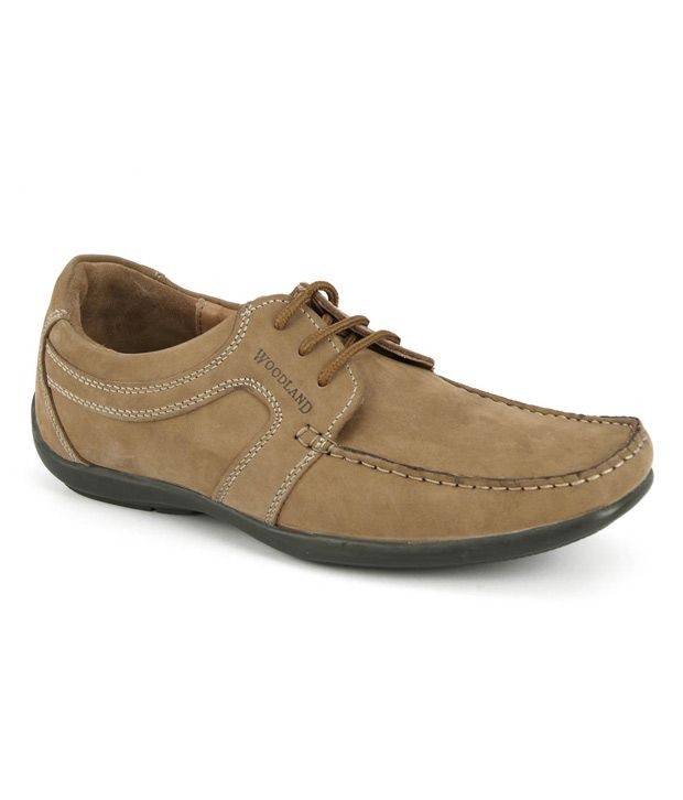 Woodland Brown Smart Casuals Shoes Art GC592108CAM - Buy ...