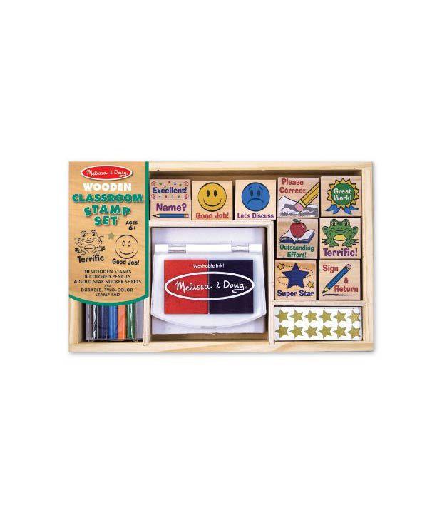 Melissa Doug Deluxe Classroom Stamp Set Buy Online At