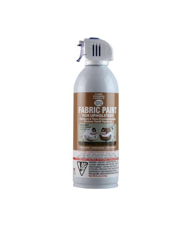 simply spray upholstery fabric spray paint 8 oz can camel brown buy. Black Bedroom Furniture Sets. Home Design Ideas