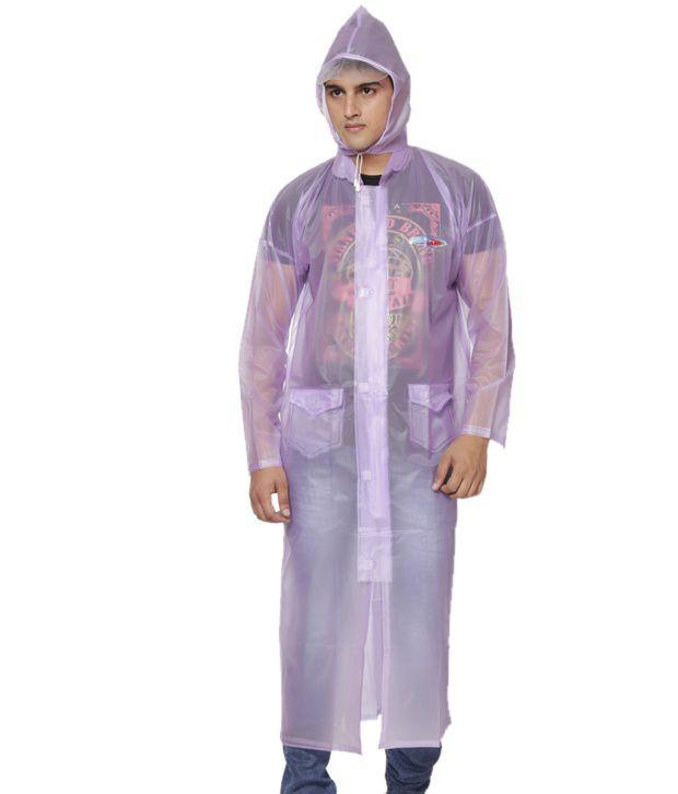 Jorss Purple Large Unisex Raincoat