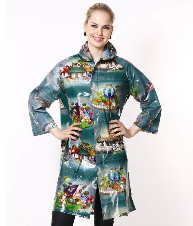 Jorss Multicolour Printed Medium Women Raincoat