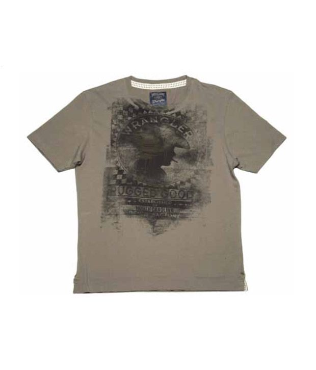 Wrangler Gun Metal Grey T-Shirt