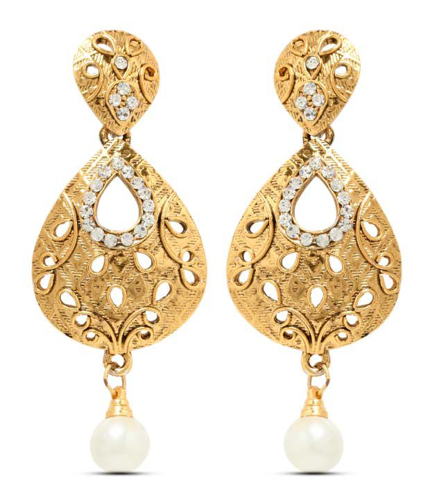 Sia Openwork Teardrop Earrings