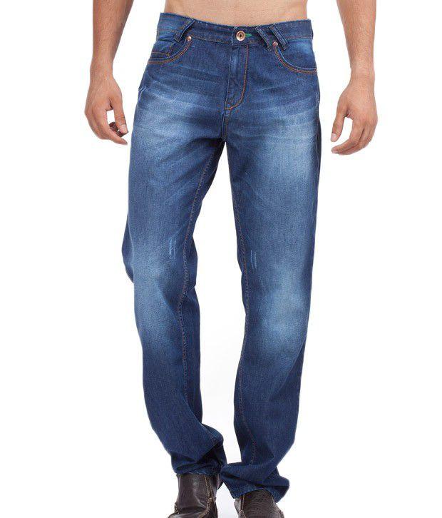 Yepme Medium Blue Faded Jeans