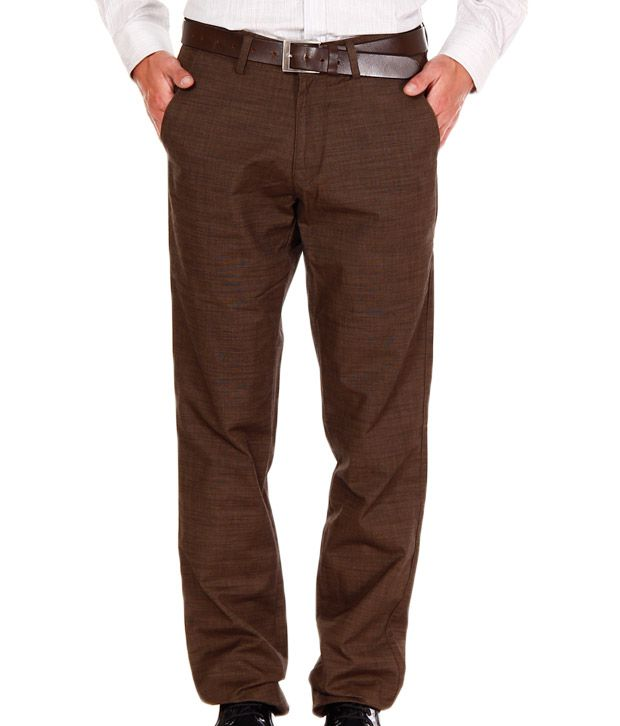 Jogur Khaki Regular Fit  Trouser