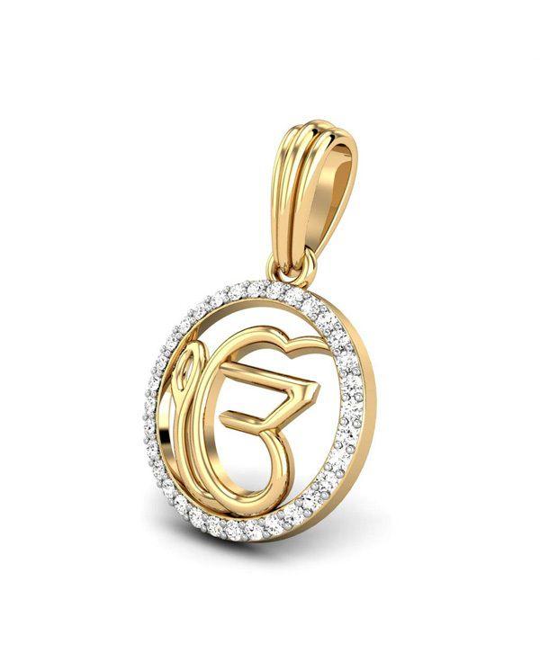 Candere ek onkar diamond 18kt gold pendant buy candere ek onkar candere ek onkar diamond 18kt gold pendant aloadofball Choice Image
