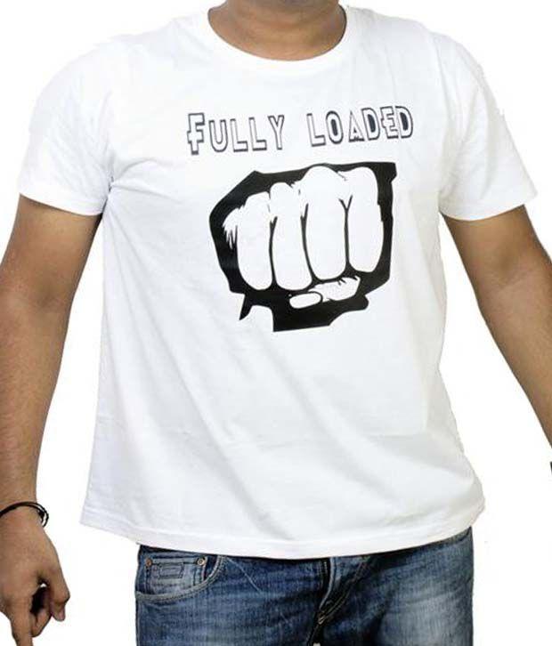 Sahibanda White Fully Loaded T-Shirt