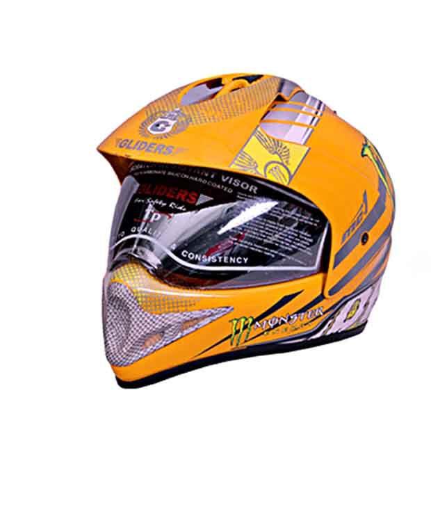 123324e4 ... Gliders- Full Face Motocross Helmet With Visor -MC-1 Yellow - Size L