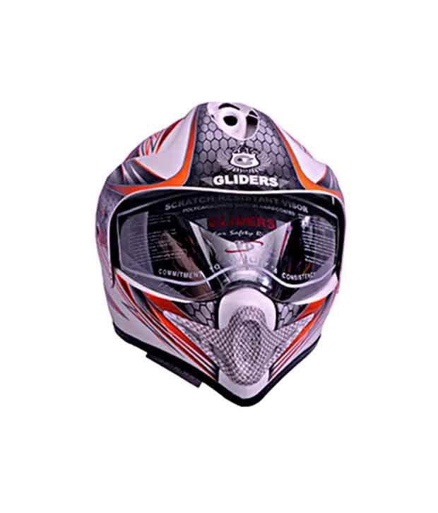 79abe299 ... Gliders- Full Face Motocross Helmet With Visor-MC-1 White & Orange ...