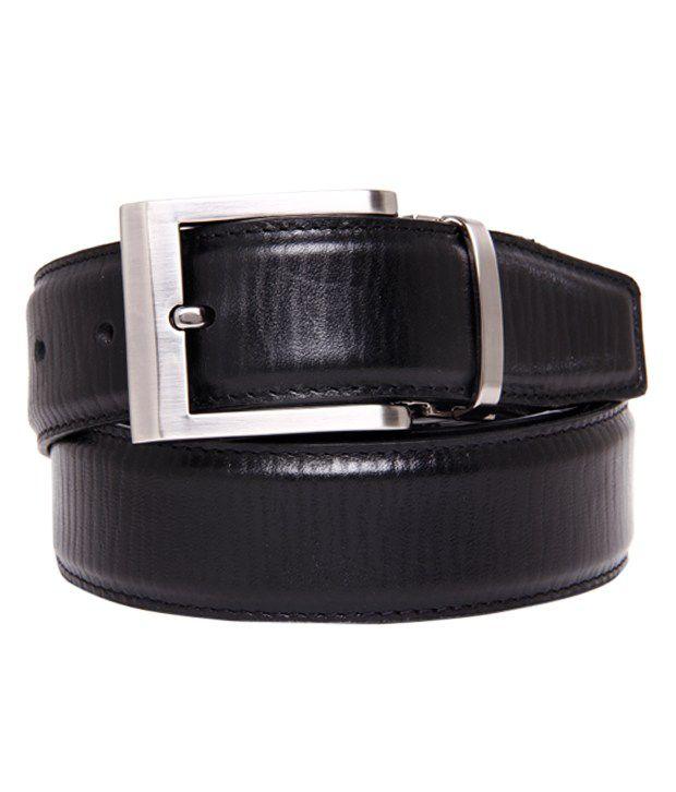 Walletsnbags Black Cracked Finish Belt