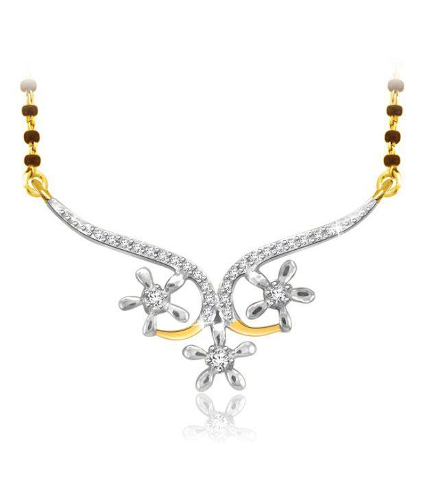 Sparkles 0.06ct. Diamond & 18kt Gold Floral Grace Mangalsutra
