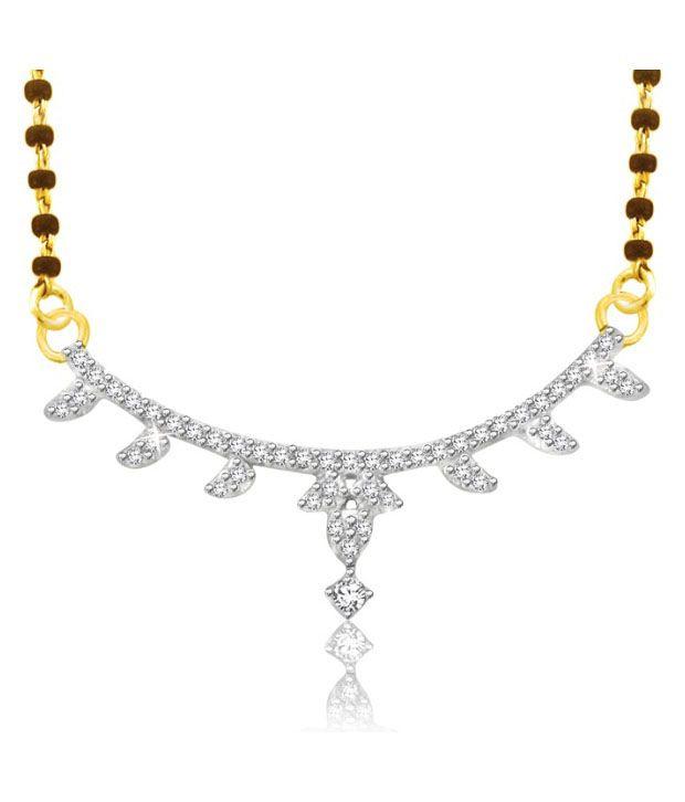 Sparkles 0.09ct. Diamond & 18kt Gold Charming Mangalsutra