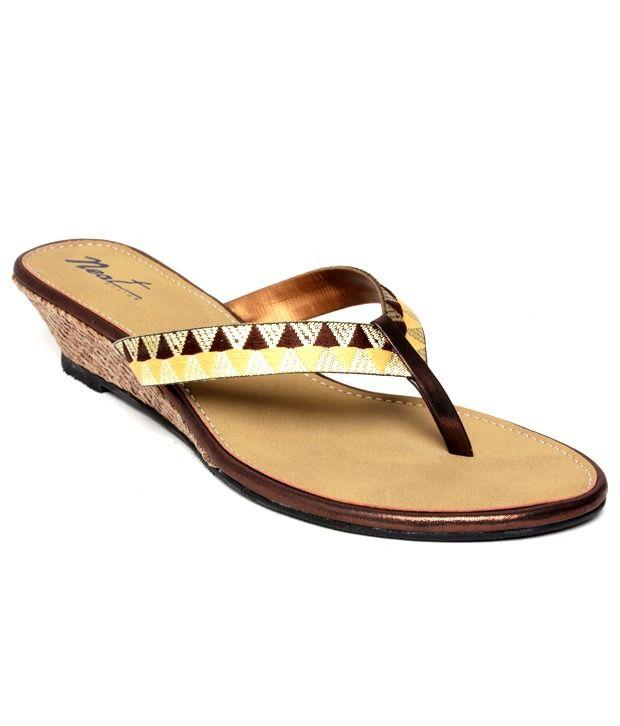 Neat Appealing Copper Slip-on Heels
