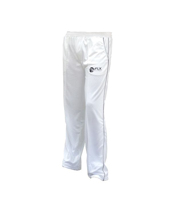 Flx Manica-Trousers-White-Jr Cricket Apparel 6010050021