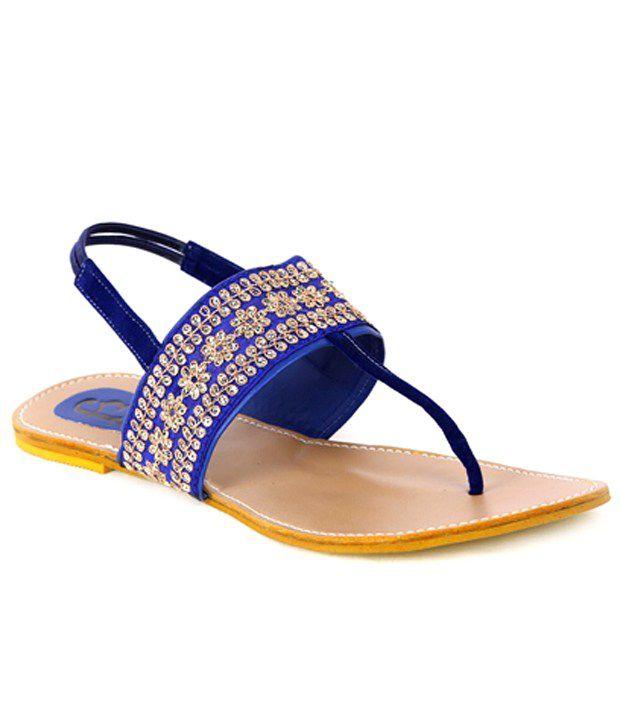 F3 Captivating Blue Flat Sandals