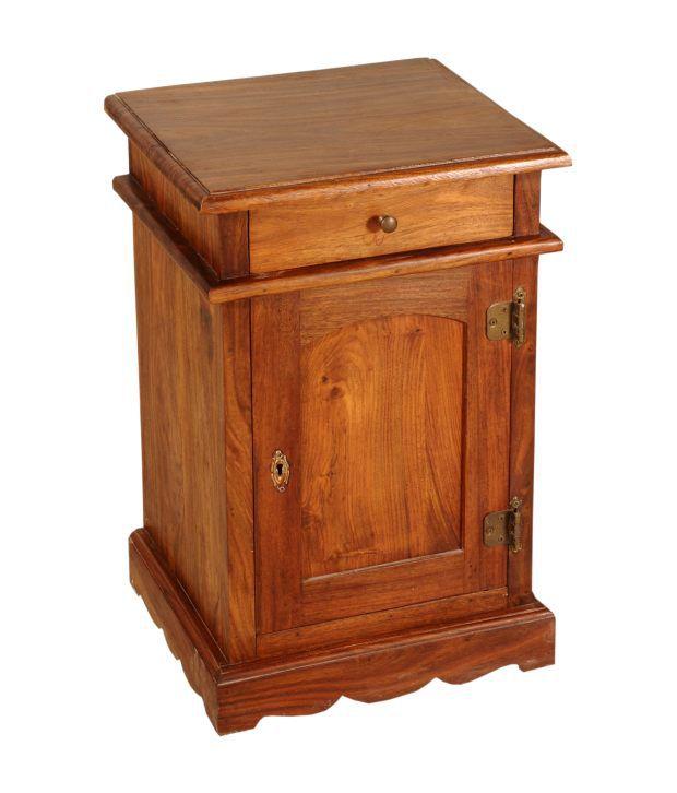 Sheesham Wood Simple Bed Side Table