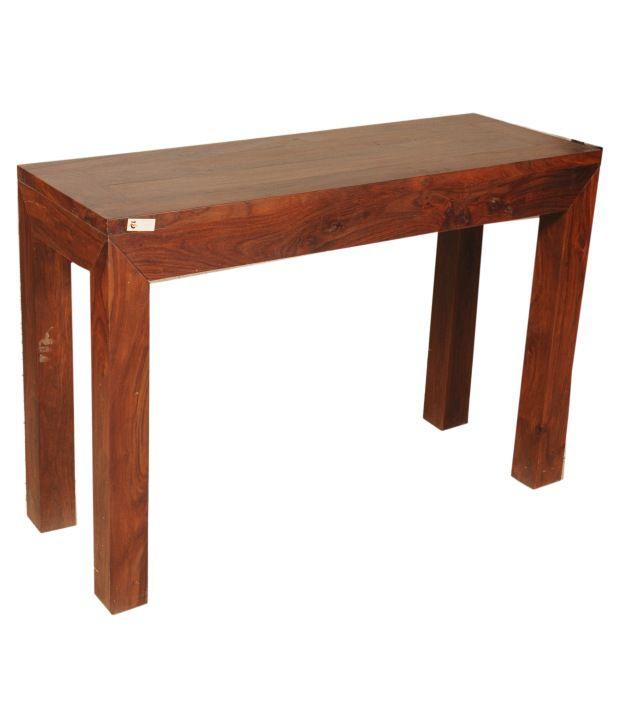 Sheesham Wood  Elongated Console Table