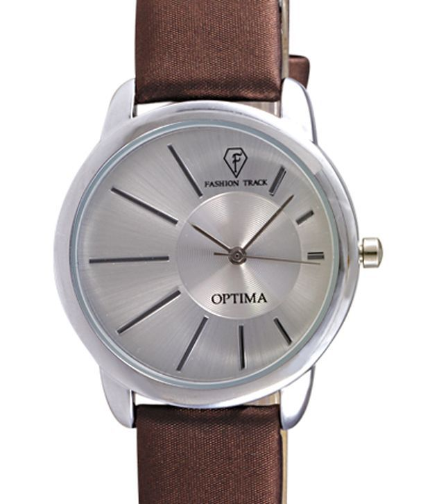Optima 3165-BRW Round Dial Women Watch