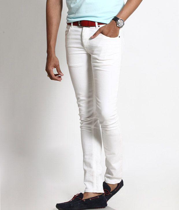 Basics 029 White Slim Fit Jeans - Buy Basics 029 White Slim Fit ...
