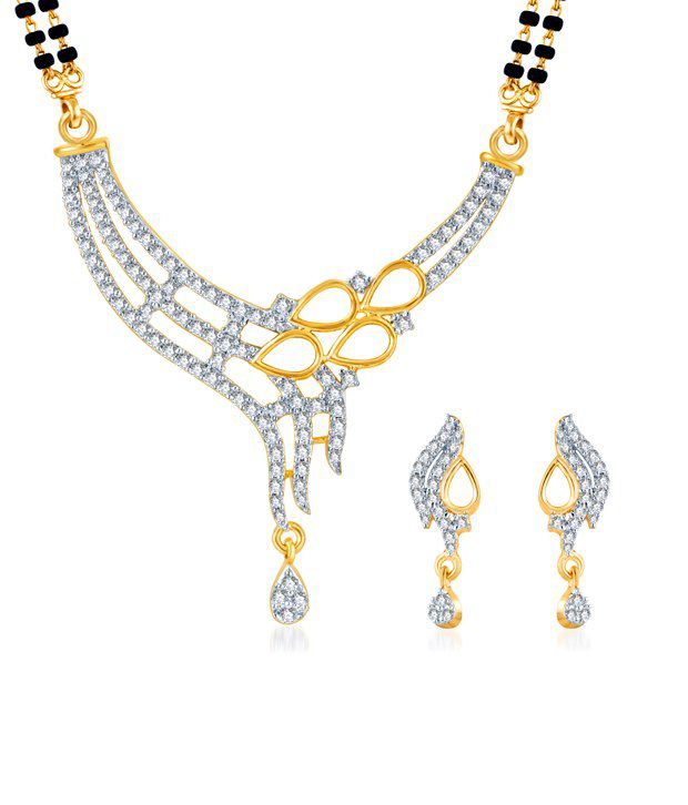 Sukkhi Gold & Rhodium Plated CZ Mangalsutra Set (Mangalsutra Mala may vary from the actual image)