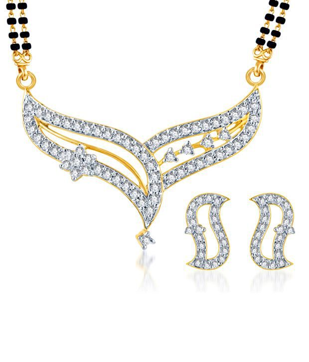 Sukkhi Classy Gold & Rhodium Plated CZ Mangalsutra Set (Mangalsutra Mala may vary from the actual image)