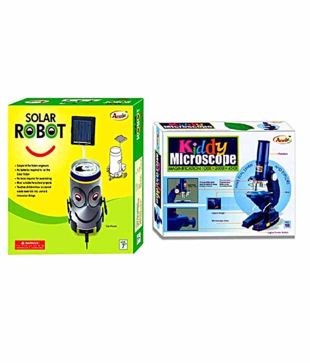 Annie Kiddy Microscope & Solar Robot Combo