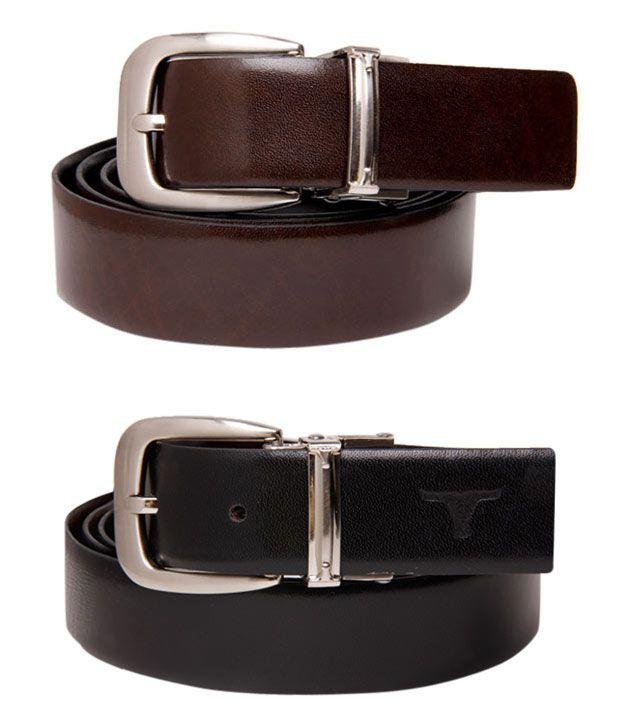 Bulchee Fashionable Black-Brown Reversible Belt