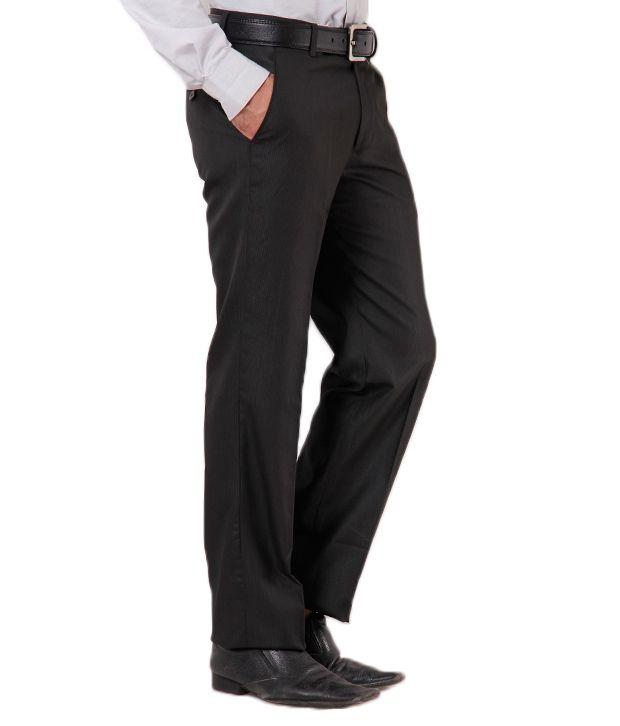 Club Avis Classy Black Formal Trouser