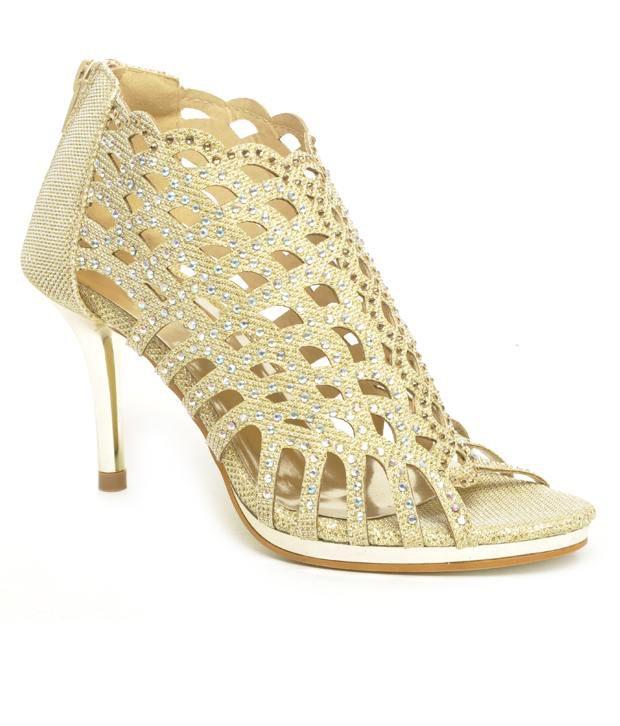 Reyna Astonishing Golden Pencil Heel Sandals