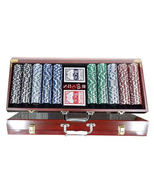 Veera Diced Poker Chipset with Wooden Case (200 chips)