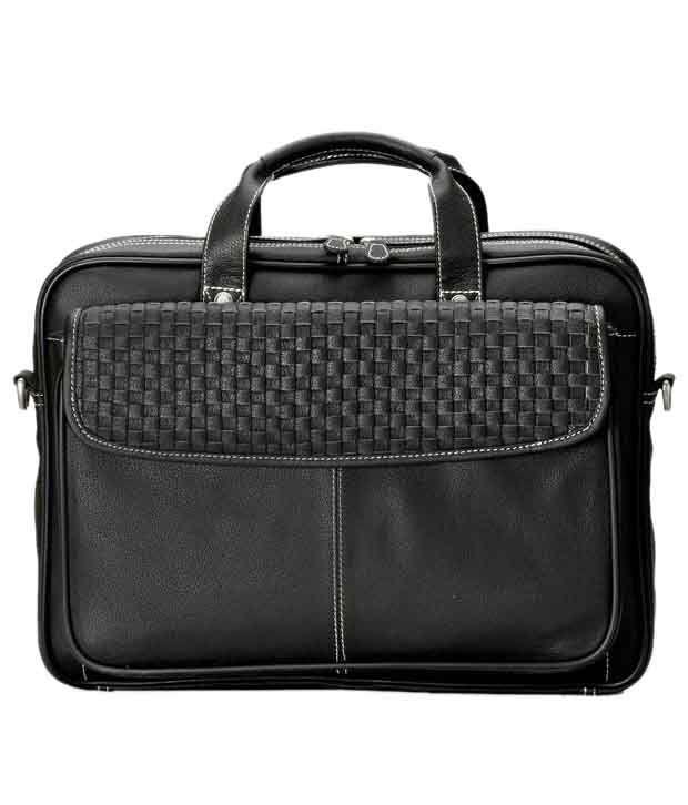 Brune Men Black Office Bag