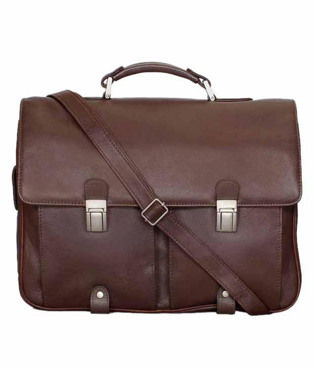 Brune Men Brown Office Bag