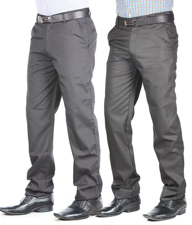 Kalvin Blue Grey Pack of 2 Trousers