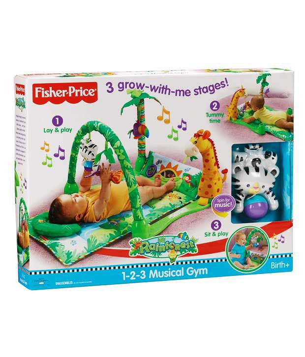 fisher price 1 2 3 rainforest gym buy fisher price 1 2 3 rh snapdeal com