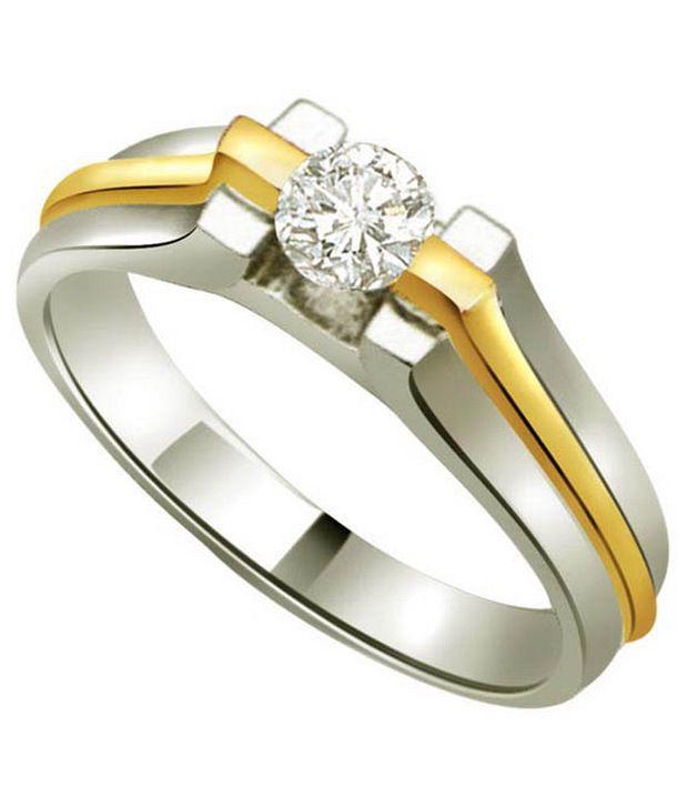 Surat Diamond 0.1 Cts. Diamond 18Kt Yellow Gold Single Diamond Rings