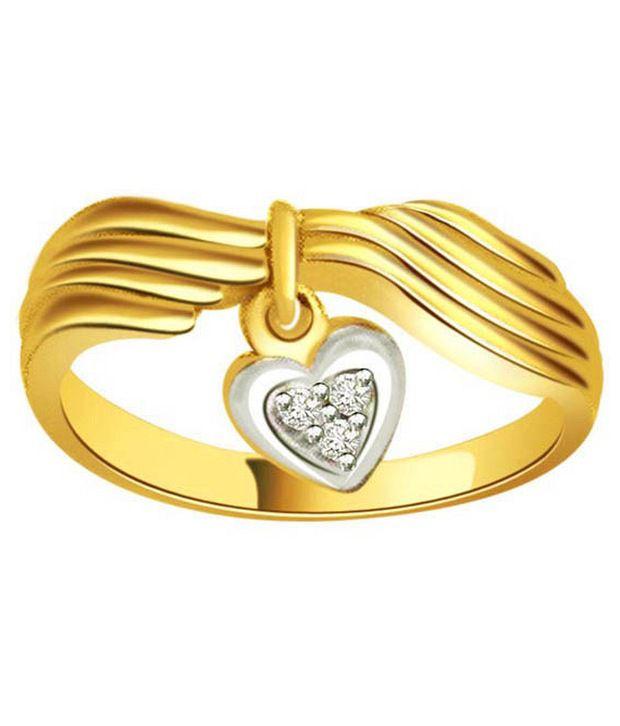 Surat Diamond 0.06 Cts. Diamond 18Kt Yellow Gold Hearts  Rings