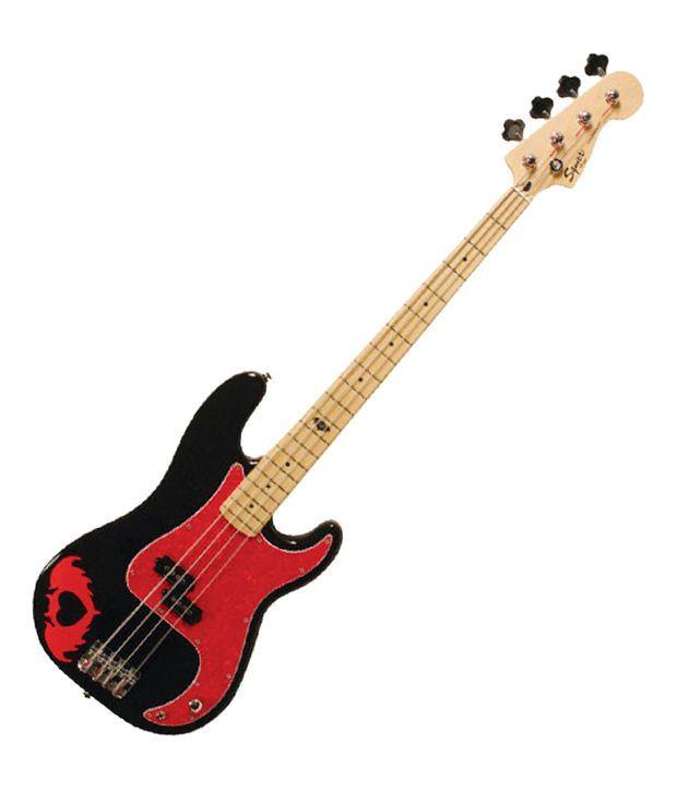 c74ea3588fe Buy Squier by Fender Pete Wentz Precision Bass Guitar - Maple Fret board &  Freebie: Guitar Carry Case. Online at Best Prices in India on Snapdeal