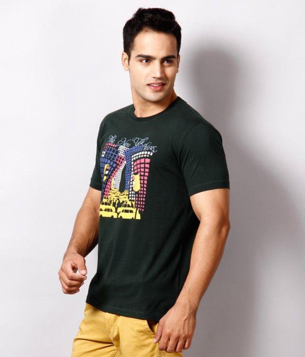 Locomotive Stylish Dark Green T Shirt