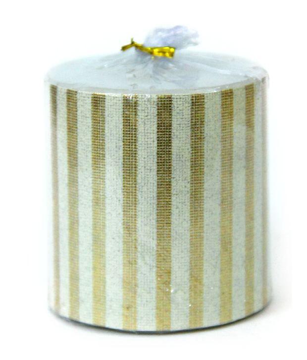 Delhi Seven Gold Wax Decorative Candle